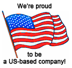We're proud to be a US-based company!