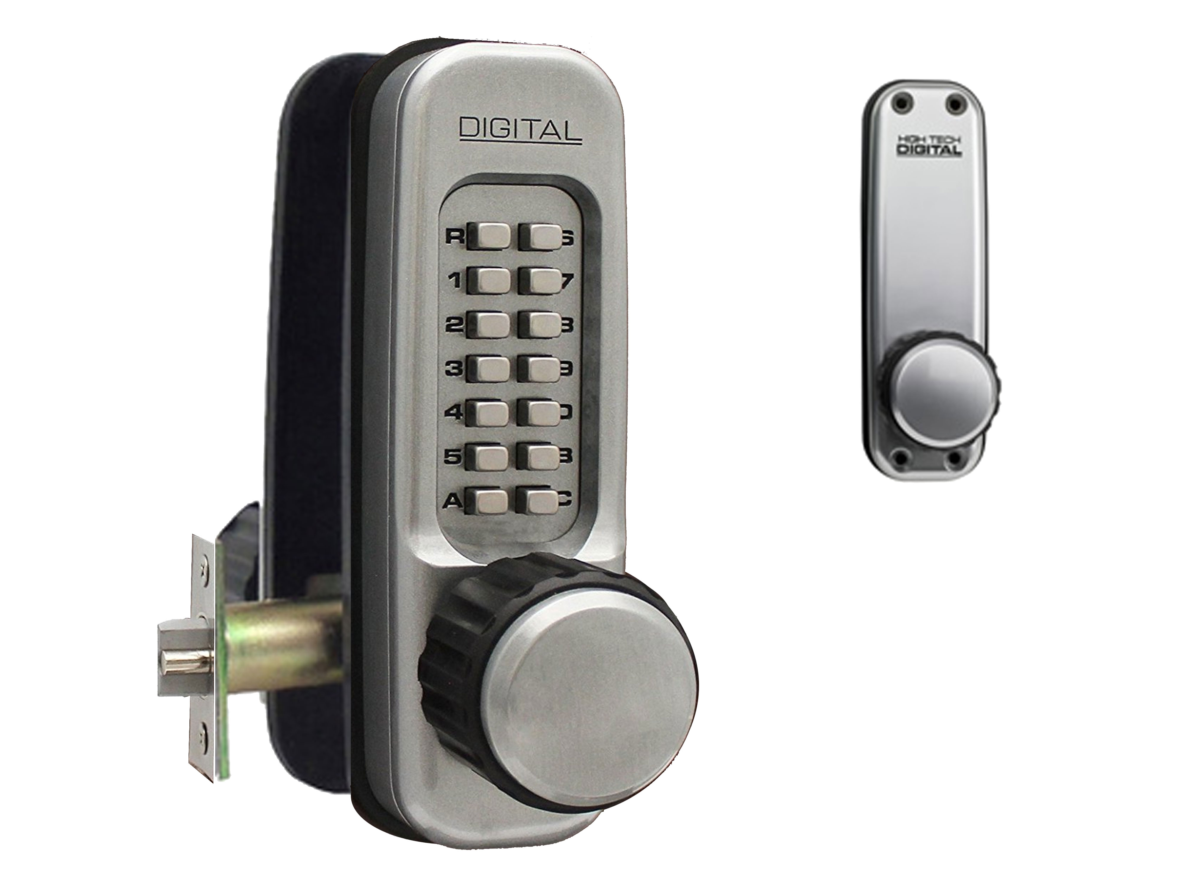 Lockey 1600 Heavy-Duty Passage Knob-Handle Latchbolt Keypad Lock