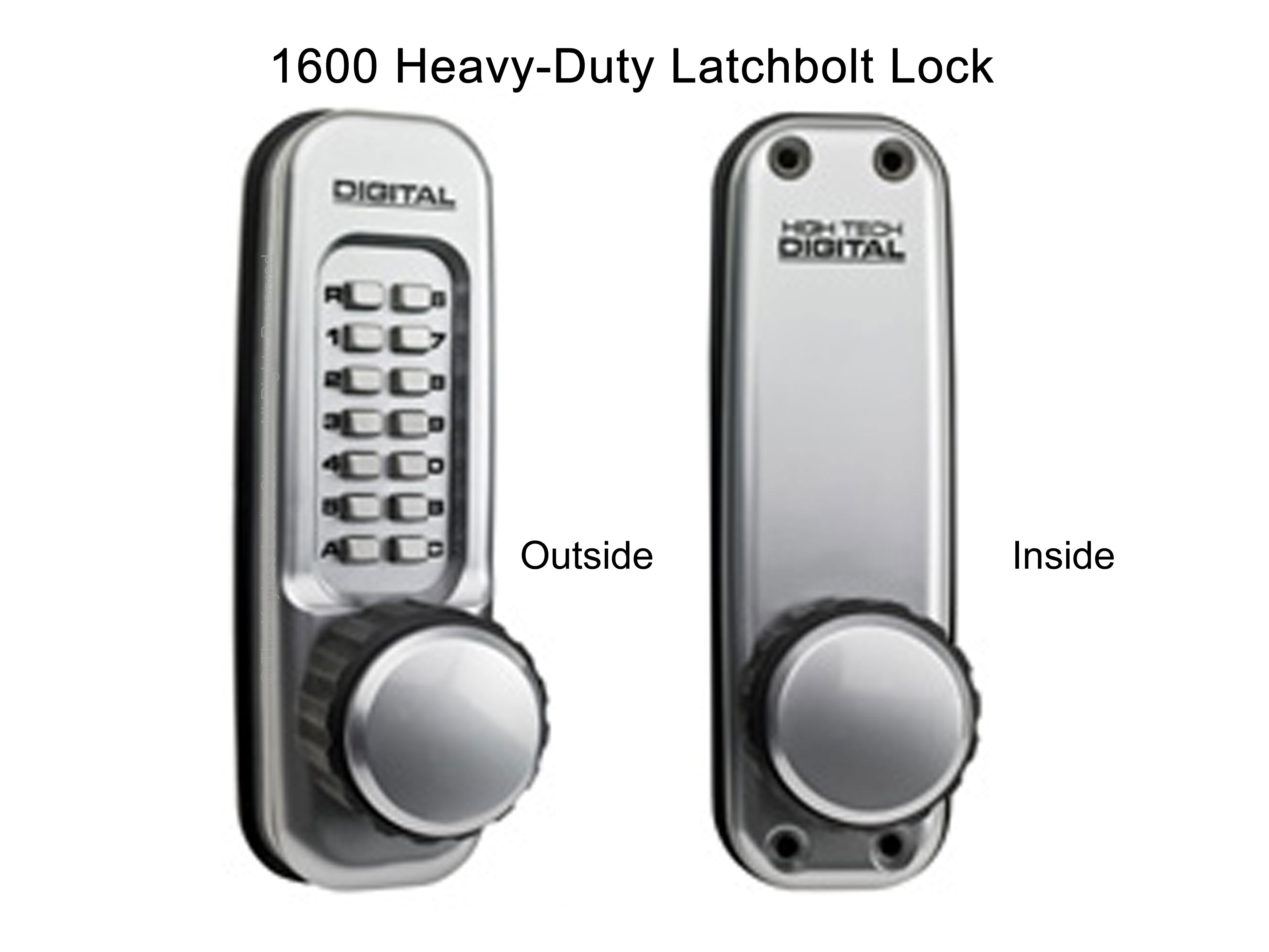 Lockey 1600 Heavy-Duty Knob-Handle Latchbolt Keypad Lock