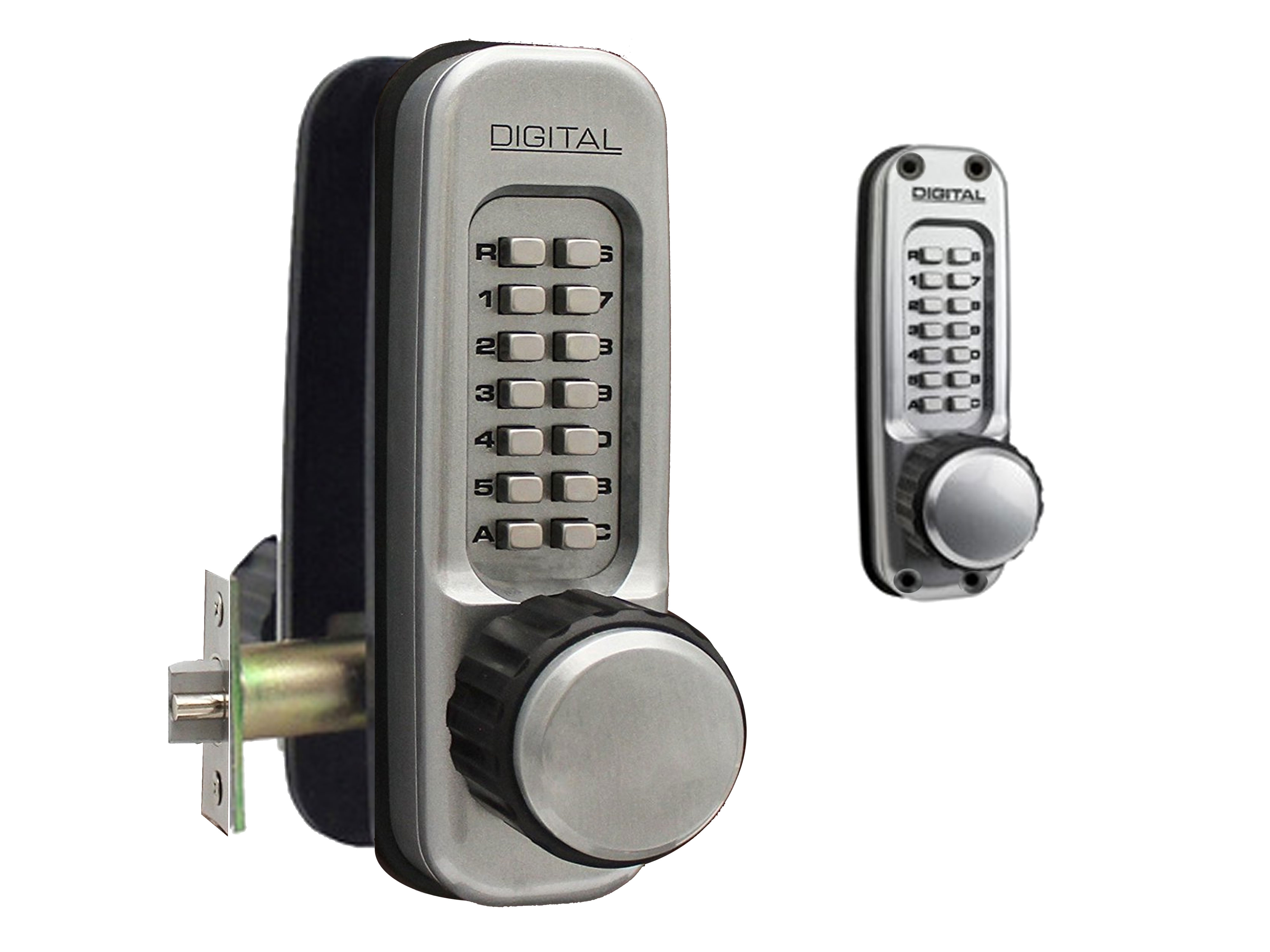 Lockey 1600DC Heavy-Duty Passage Knob-Handle Latchbolt Double-Keypad Lock - Click Image to Close