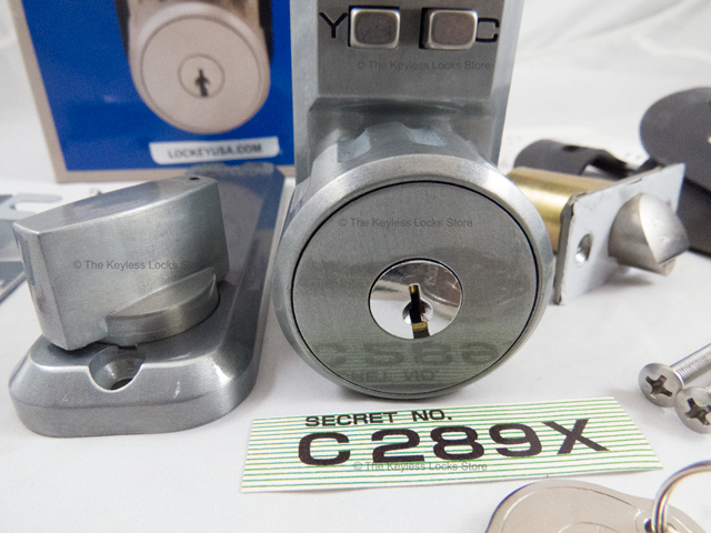 Lockey 2435 Short Lever-Handle Latchbolt Keypad Lock with Hold-Back - Click Image to Close