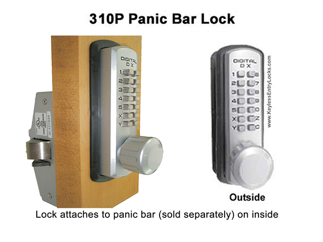 Lockey 310P Marine-Grade Panic-Bar Keypad Lock