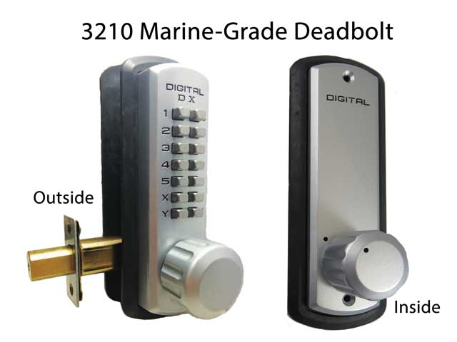 Lockey 3210 Marine-Grade Deadbolt Lock