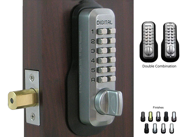 Lockey M210-EZ-DC Deadbolt Double-Keypad Lock