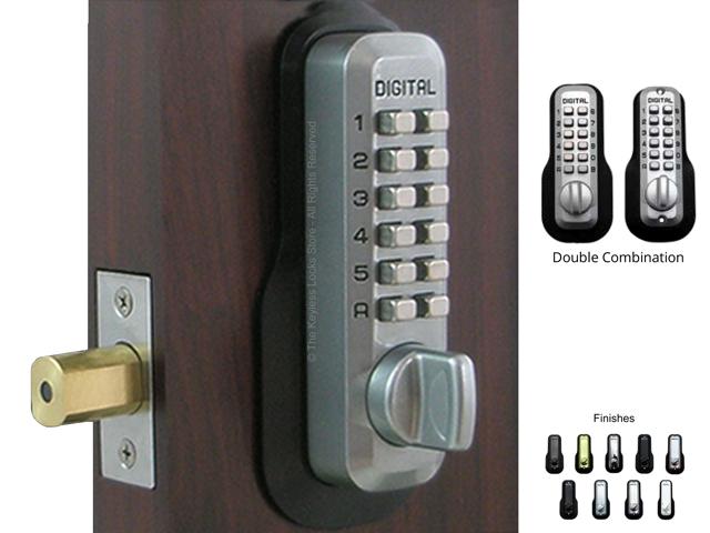 Mechanical Keyless Door Lock Sliding Bar Lock