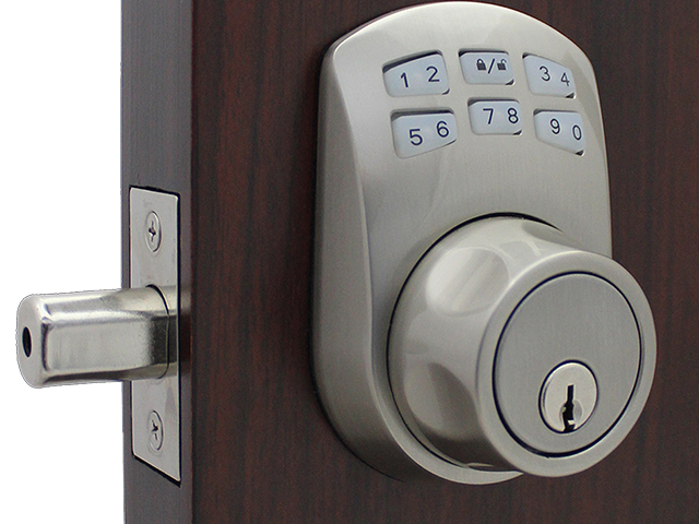 Lockey SL910 Slim Line Electronic/Mechanical Keypad Deadbolt Lock
