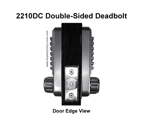 Lockey 2210DC Double-Sided Deadbolt Lock
