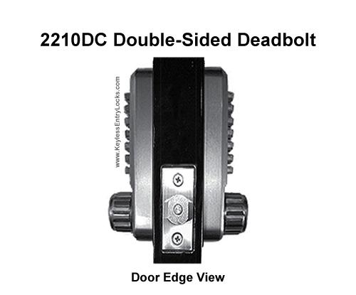 Lockey 2210DC Double Sided Deadbolt Lock Lockey 2210DC Double Sided Deadbolt