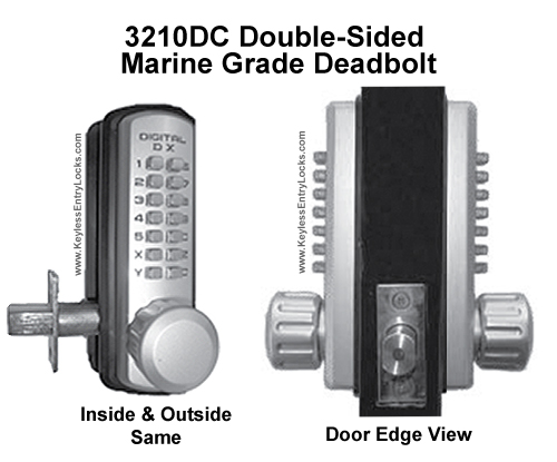 Lockey 3210DC Double-Sided Marine-Grade Deadbolt Lock