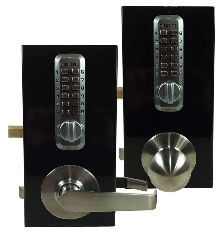 Lockey GB210DC Satin Chrome Gate Kit (knob or lever-handle)