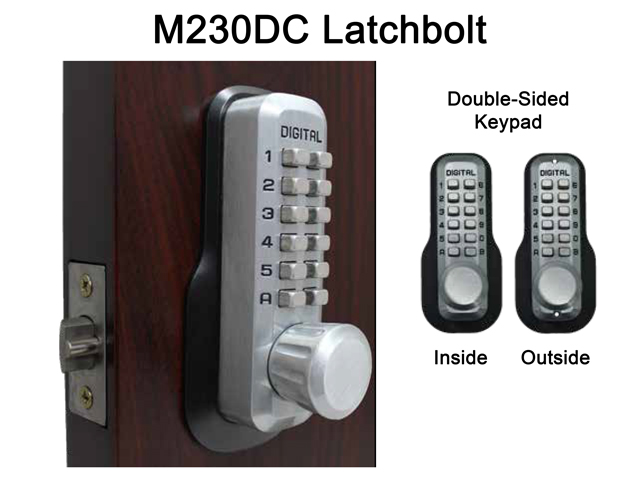Lockey M230DC Double-Sided Home Latchbolt Keypad Push-Button Combination Keyless Entry Door Lock