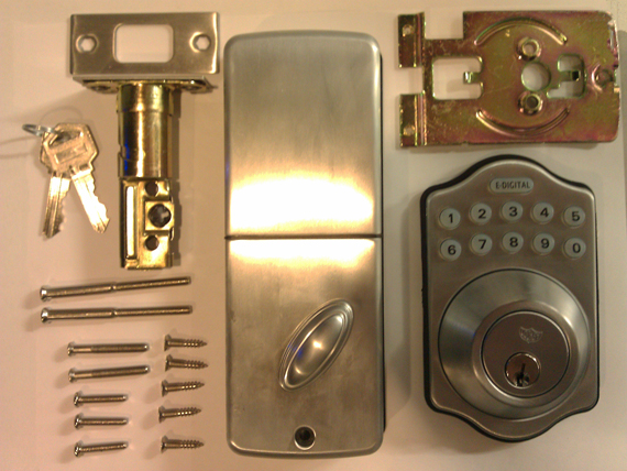 Lockey E910 Electronic Deadbolt Lock (E-Digital) - Click Image to Close