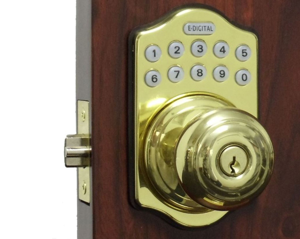 Lockey E-Digital 930R Electronic Knob-Handle Latchbolt Lock