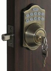 Lockey E Digital 910 Deadbolt Lock With Remote Control