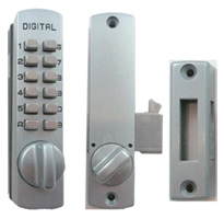 C150 Keyless Cabinet Hookbolt Inside and Outside View Satin Chrome