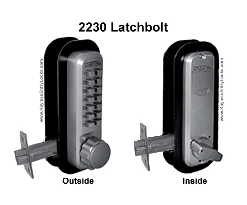 Lockey 2230 Latchbolt Keypad Push-Button Combination Keyless Entry Door Lock
