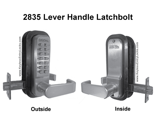 Lockey 2835 Lever Handle Latchbolt Keypad Push-Button Combination Keyless Entry Door Lock