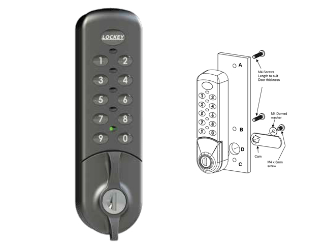 Lockey EC784 Flush Fit Cabinet/Locker Cam Lock