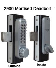 Lockey 2900 Narrow-Stile Deadbolt Knob-Handle Keypad Lock