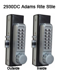 Lockey 2930DC Double Sided Adams Rite Stile Latchbolt Keypad Push-Button Combination Keyless Adams Rite Latchbolt Lock