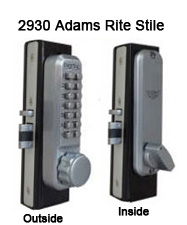 Lockey 2930 Narrow-Stile Latchbolt Knob-Handle Keypad Lock
