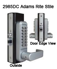 Lockey 2985DC Double-Sided Mortise Latchbolt Lever-Handle Lock