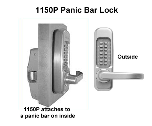 Lockey 1150P (115P) Lever-Handle Panic-Bar Keypad Lock