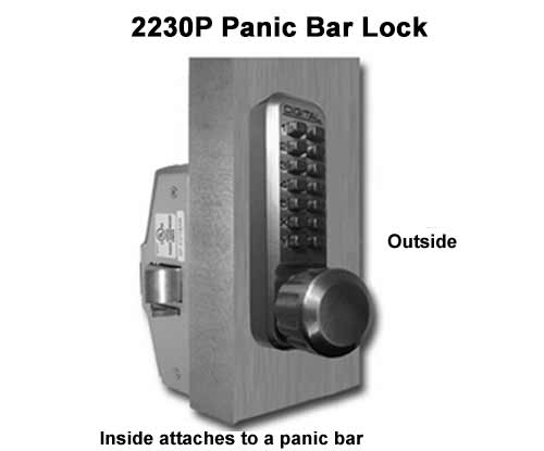 Panic Bar Locks Keyless Entry Locks Keypad Pushbutton