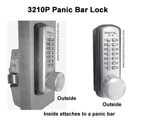 Lockey 3210P Marine-Grade Panic-Bar Lock
