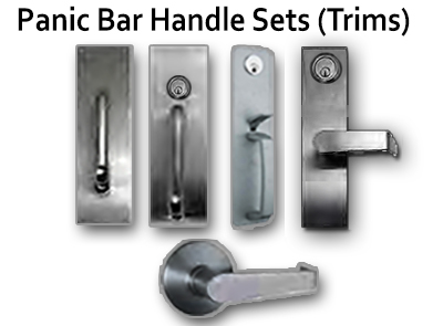 Lockey PT100 Panic Bar Handle Sets (Trims)