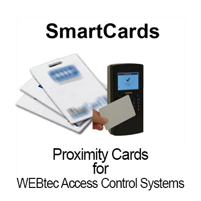 WEBtec SmartCards/Key FOBs (sold in packs of 25 cards)