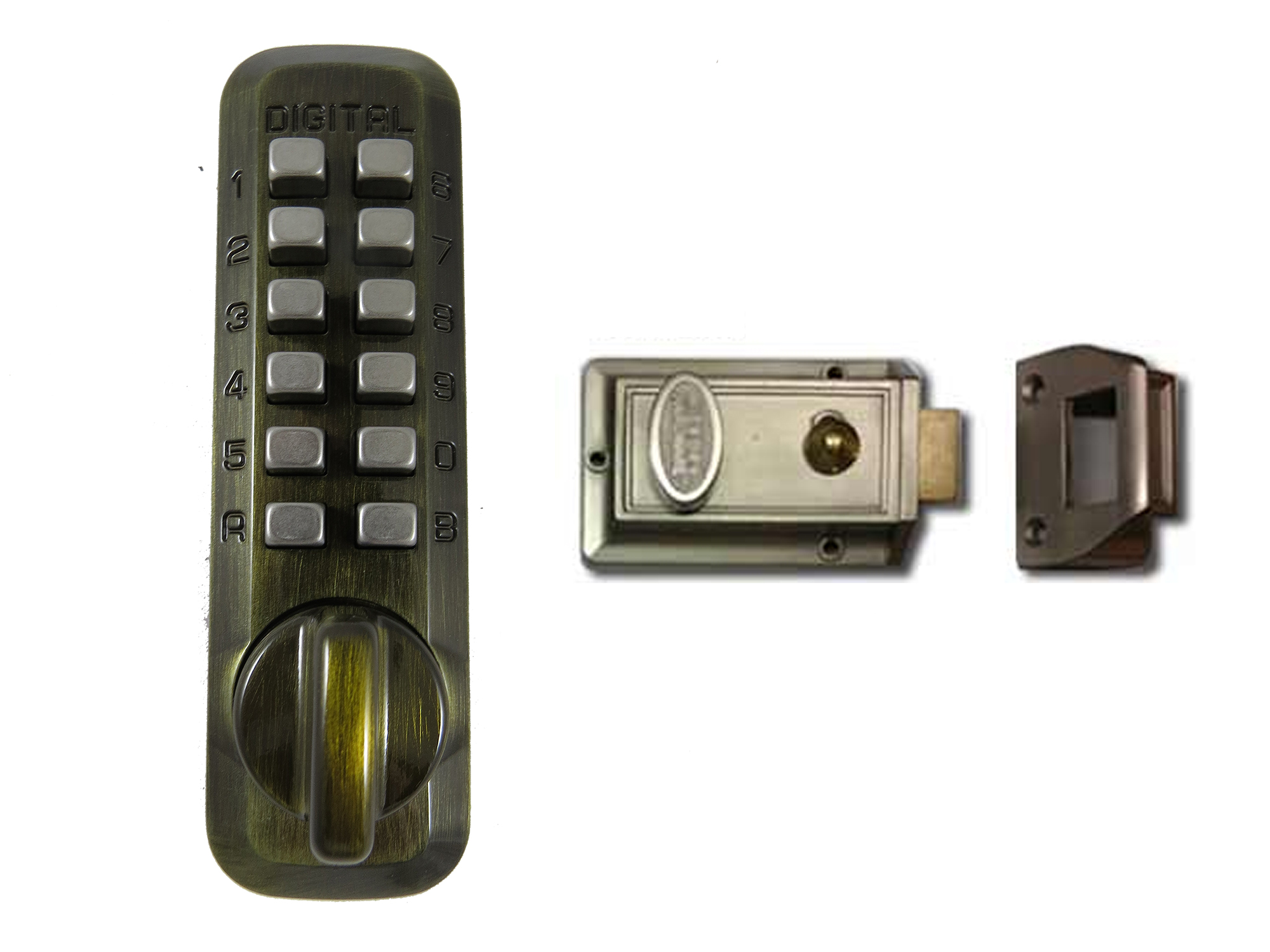Lockey M213 Home Security Nite-Latch Keypad Lock