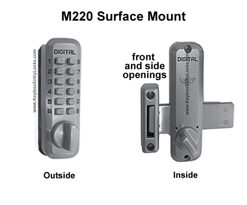 Lockey M220 Home Surface-Mount Keypad Push-Button Combination Keyless Entry Door Lock