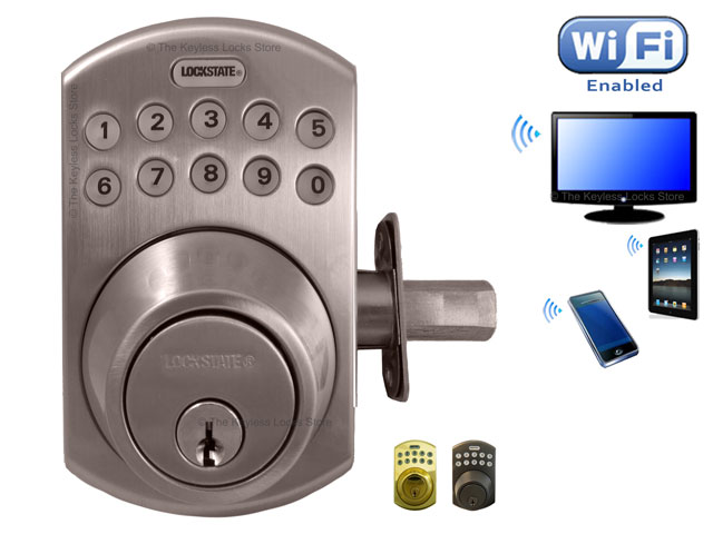 Lockstate Remotelock Wifi Door Lock Keypad Door Handle