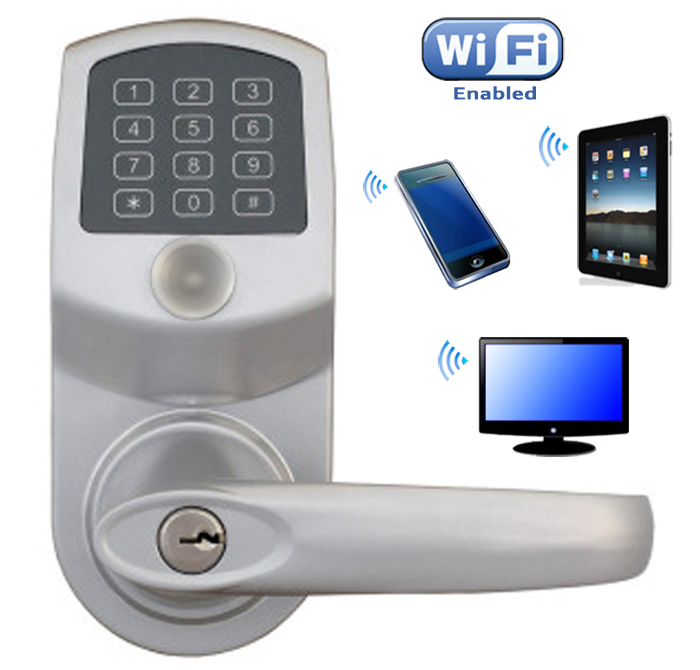 Simple Elegant LockState RemoteLock LS 6i WiFi Enabled Luxury - Simple keyless exterior door lock Elegant
